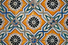 Vintage spanish style ceramic tiles Royalty Free Stock Image