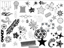 Vintage Sparkle Ornaments Vector Set Royalty Free Stock Images
