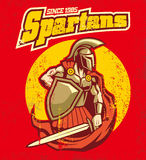 Vintage spartan mascot Royalty Free Stock Photo