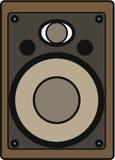 Vintage speaker illustration Stock Image
