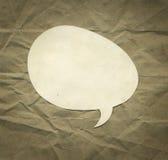 Vintage speaking bubble Stock Photo