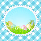 Vintage speckled easter background oval Royalty Free Stock Photography