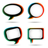 Vintage speech bubble set Royalty Free Stock Photo