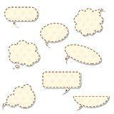Vintage speech bubbles Royalty Free Stock Photo