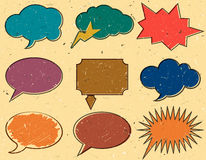 Vintage speech bubbles Stock Photo