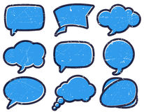Vintage speech bubbles on the cardboard Royalty Free Stock Image