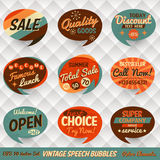 Vintage Speech Bubbles Cards Royalty Free Stock Image