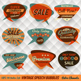 Vintage Speech Bubbles Cards Royalty Free Stock Photos