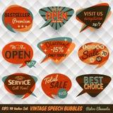 Vintage Speech Bubbles Cards Stock Photos