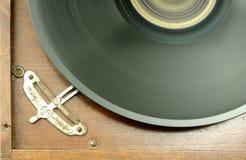 Vintage speed. Close view at detail of vintage gramophone speed adjustment Stock Image