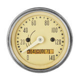 Vintage speedometer Royalty Free Stock Images