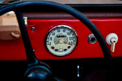 Vintage speedometer Stock Image