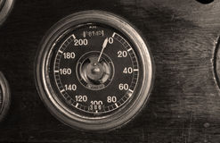 Vintage speedometer Royalty Free Stock Photos