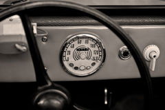Vintage speedometer Royalty Free Stock Photography