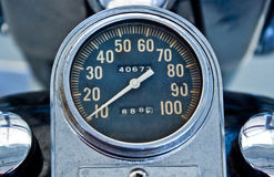 Vintage speedometer Royalty Free Stock Image