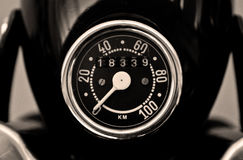Vintage speedometer Royalty Free Stock Photo