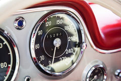 Vintage speedometer Stock Photo