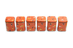 Vintage spice boxes Stock Image