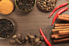 Vintage spices frame Stock Photo