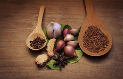 Vintage  spices Thailand Royalty Free Stock Image