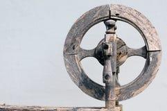 Vintage Spinning Wheel Stock Photo