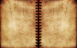 Vintage spiral notebook. Textured surface Royalty Free Stock Photo