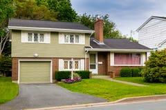 Free Vintage Split Level Home Stock Photos - 57487973