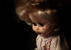 Vintage spooky doll Royalty Free Stock Photos