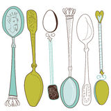Vintage spoons Royalty Free Stock Image