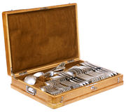 Vintage spoons, forks and knifes Royalty Free Stock Image