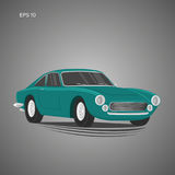 Vintage sport car vector illustration. European classic automobile Royalty Free Stock Photo