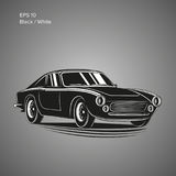 Vintage sport car vector illustration. European classic automobile Stock Photo