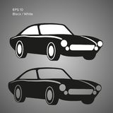 Vintage sport car vector illustration. European classic. Wehicle icon Royalty Free Stock Image