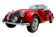 Vintage sport convertible classic car isolated. Vintage sport convertible classic car with alloy wheels. Clipping path included Stock Photo