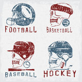 Vintage sport grunge vector labels set with Royalty Free Stock Photos