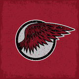 Vintage sport label with wings Stock Photography