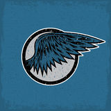 Vintage sport label with wings Royalty Free Stock Photo