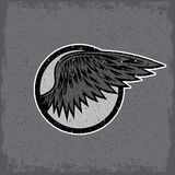Vintage sport label with wings Royalty Free Stock Images