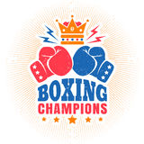 Vintage sport logo for boxing Royalty Free Stock Photography
