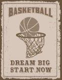 Vintage sport poster Stock Image