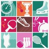 Vintage sport symbols Royalty Free Stock Photography