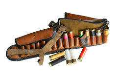 Vintage sporting cartridge belt Stock Photos