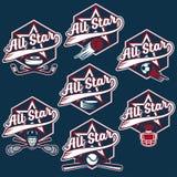 Vintage sports all star crests