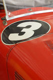Vintage sports car detail number three Stock Photos