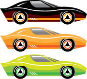 Vintage Sports car Simple basic Vector Royalty Free Stock Photo