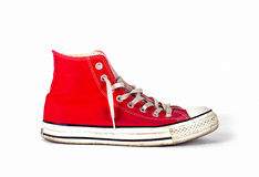 Vintage sports red shoes Royalty Free Stock Image