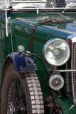 Vintage sportscar. Closeup of vintage MG sports car showing front Stock Photos
