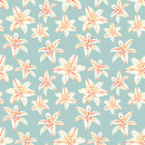 Vintage spring colorful polygon flower pattern Royalty Free Stock Images