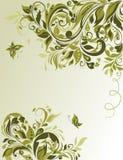 Vintage spring floral banner Stock Images