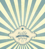 Vintage Spring Frame Royalty Free Stock Photo